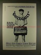 1970 Gaily, Gaily Movie Ad w/ Nude Beau Bridges, NICE!! - $14.99