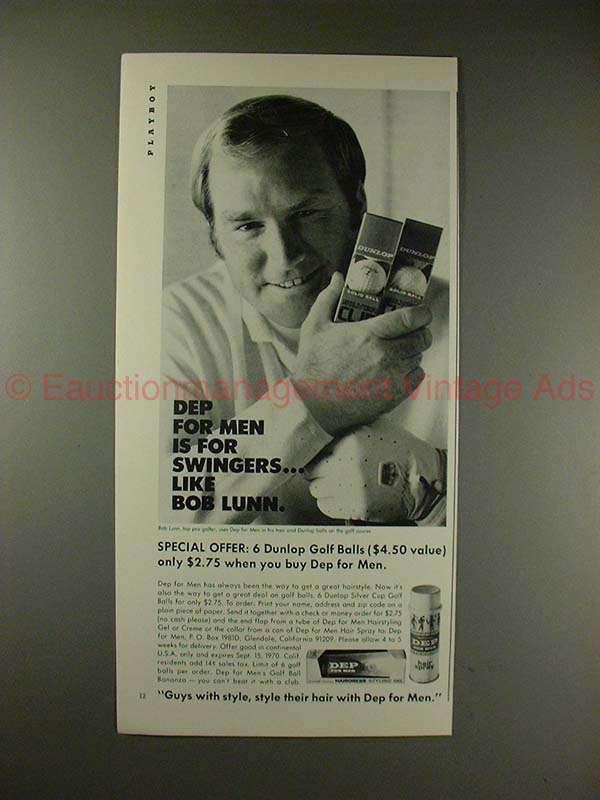1970 Dep for Men Ad w/ Bob Lunn - For Swingers!! - $14.99