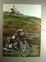 1970 Harley Davidson Sprint SS 350 Motorcycle Ad, NICE! - $14.99