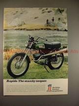 1970 Harley Davidson 125cc Rapido Motorcycle Ad, NICE!! - $14.99