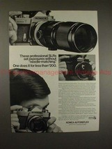 1970 Konica Autoreflex-T and Autoreflex-A Camera Ad!! - $14.99
