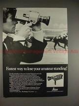 1970 Leica Leicina Super 8 Movie Camera Ad - NICE!! - $14.99