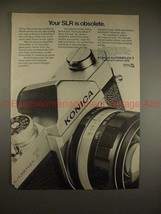 1970 Konica Autoreflex-T Camera Ad - Your SLR Obsolete! - $14.99