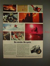 1970 Minolta SR-T 101 Camera Ad - Be Nimble, Be Quick! - $14.99