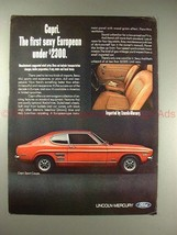 1970 Mercury Capri Sport Coupe Car Ad - Sexy European!! - $14.99