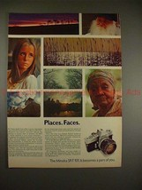 1970 Minolta SR-T 101 Camera Ad - Places Faces, NICE!! - $14.99