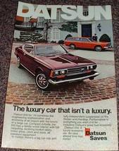 1974 Datsun 610 Car Ad, Luxury NICE!! - $14.99
