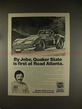 1975 Quaker State Oil Ad w/ Bill Jobe, First at Atlanta - $14.99