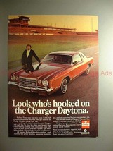 1976 Dodge Charger Daytona Ad w/ Richard Petty - Hooked - $14.99