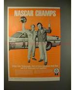 1977 S-K Tools Ad w/ Cale Yarborough & Herb Nab, NASCAR - $14.99