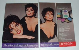 1987 Revlon Custom Eyes Ad w/ Liza Minnelli - $14.99