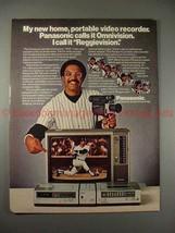 1980 Panasonic Omnivision Ad w/ Reggie Jackson, NICE!! - $14.99