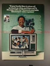 1981 Panasonic Omnivision System Ad w/ Reggie Jackson!! - $14.99