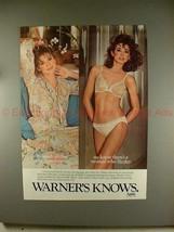 1981 Warner Sizzles Bra & Bikini Ad - Girlish Innocence - $14.99
