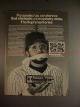 1981 Panasonic Supreme Car Stereo Ad w/ Reggie Jackson! - $14.99