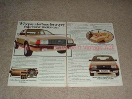 1982 2pg Austin Ambassador VandenPlas Car Ad - NICE! - $14.99