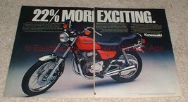 1981 Kawasaki 305CSR Motorcycle 2-page Ad, Exciting!! - $14.99