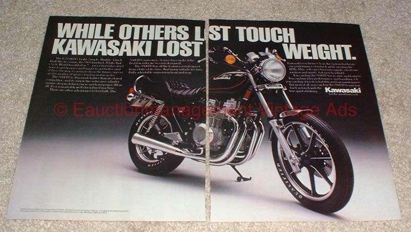 1981 Kawasaki KZ550LTD Motorcycle 2-page Ad, NICE!!