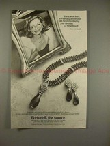 1982 Fortunoff Jewelry Ad w/ Lauren Bacall - Amethysts! - $14.99