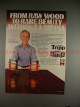 1982 Carver Tripp Wood Stain Ad w/ Harry Morgan!! - $14.99