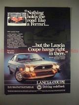 1981 Lancia Coupe Ad - Nothing Holds Road Like Ferrari! - $14.99