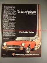 1982 Fiat Spider Turbo Ad, Turbo Charged Convertible!! - $14.99