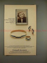 1982 Fortunoff Jewelry Ad w/ Lauren Bacall - Sapphires! - $14.99