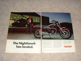 1982 Honda Nighthawk Motorcycle 2-page Ad, Has Landed!! - $14.99