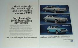 1975 Ford Granada Car Ad - Looks Cadillac, Priced VW - $14.99