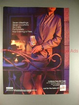 1991 Coke Coca-Cola Diet Caffiene Free Ad, Evening Free - $14.99