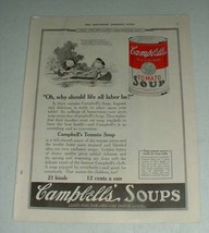 1922 Campbell's Tomato Soup Ad - Life all Labor Be - $14.99
