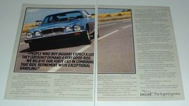 1984 2-page Jaguar Series III Car Ad - Expect a Lot! - $14.99