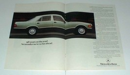 1984 2-page Mercedes S-class Car Ad - So Far Ahead! - $14.99