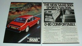 1984 2-page Saab 900i Car Ad - 0-110 Comfortably! - $14.99