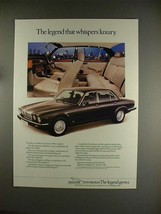 1984 Jaguar Soverign Car Ad - Whispers Luxury! - $14.99