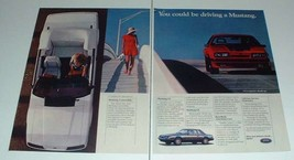1985 2-page Ford Mustang Convertible, LX and GT Car Ad! - $14.99
