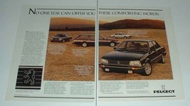 1985 2-page Peugeot 205 T16, 505 Turbo, 505 S Wagon Ad! - $14.99