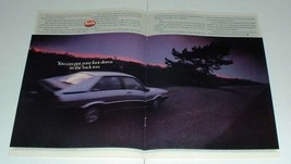 1984 2-page Audi Coupe Car Ad - Put Foot Down - $14.99