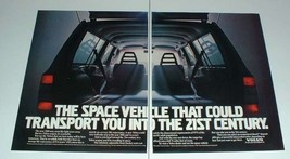 1985 2-page Volvo Wagon Ad - Space Vehicle! - $14.99