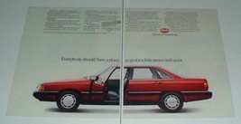 1985 2-page Audi 5000S Car Ad - Peace and Quiet! - $14.99