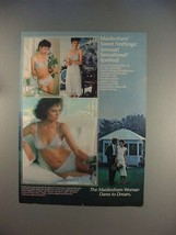 1985 Maidenform Sweet Nothings Bra, Bikini, Camisole & Petti Ad! - $14.99