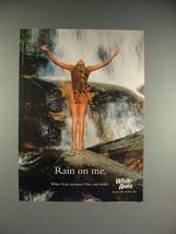 2000 White Rain Shampoo Ad w/ Nude Woman - Rain on Me - $14.99