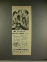 1956 Philips Philishave Ad, Benny Hill, Peter Haigh - $14.99