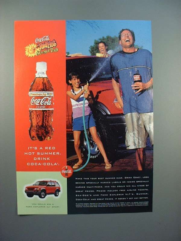 1999 Coca-Cola Coke Ad - Red Hot Summer