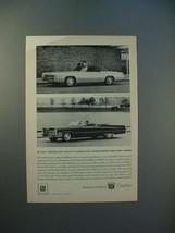 1967 Cadillac Fleetwood Eldorado & Deville Car Ad - $14.99