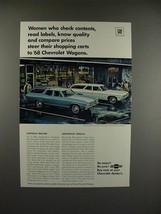 1968 Chevrolet Chevelle Malibu, Impala Wagon Ad - $14.99