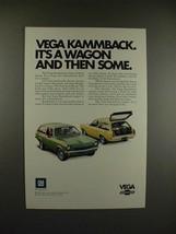1971 Chevrolet Vega Kammback Wagon Ad - Then Some! - $14.99