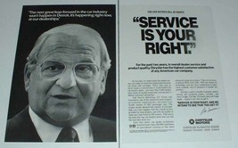 1989 Chrysler Car Ad w/ Lee Iacocca - Service - $14.99