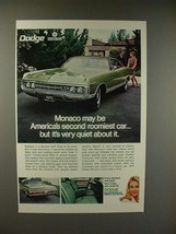 1970 Dodge Monaco Car Ad - Second Roomiest - $14.99
