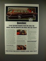 1971 Dodge Coronet Wagon Ad - Why Pay More? - $14.99
